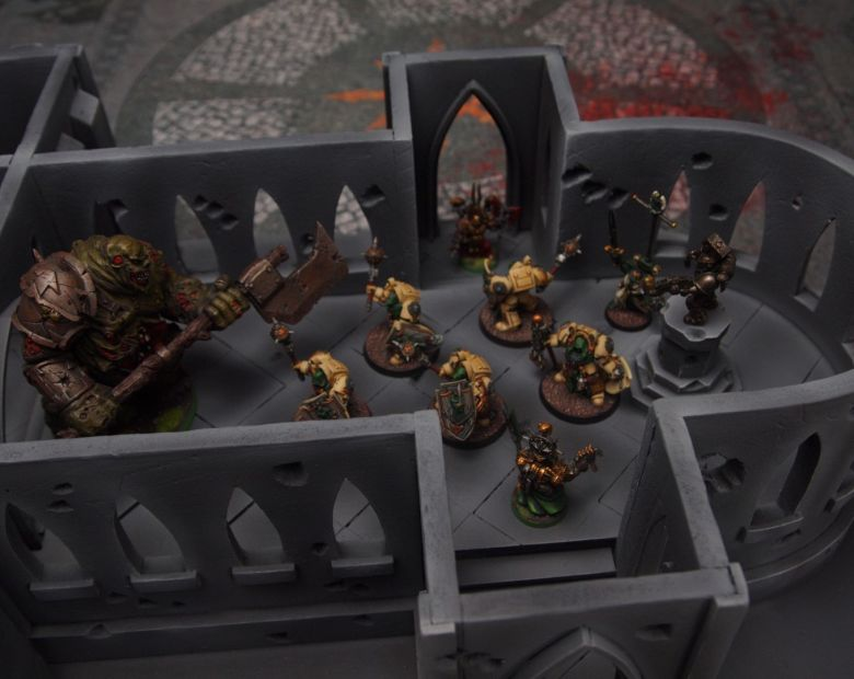Warhammer 40k terrain cathedral deathwing chaos interior 2