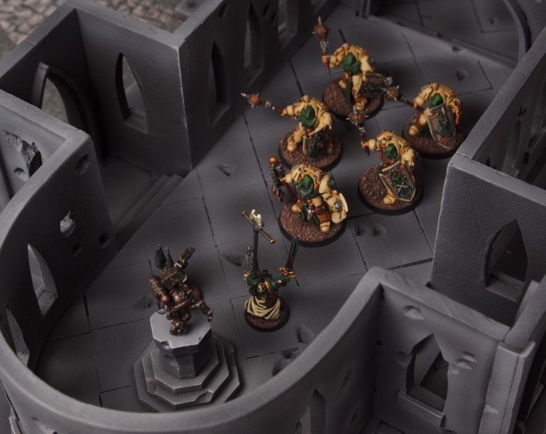 Warhammer 40k terrain cathedral deathwing chaos interior 4