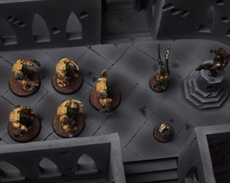 Warhammer 40k terrain cathedral deathwing chaos interior 6