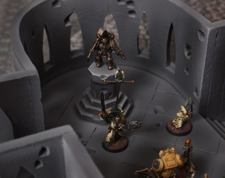 Warhammer 40k terrain cathedral deathwing chaos interior 7