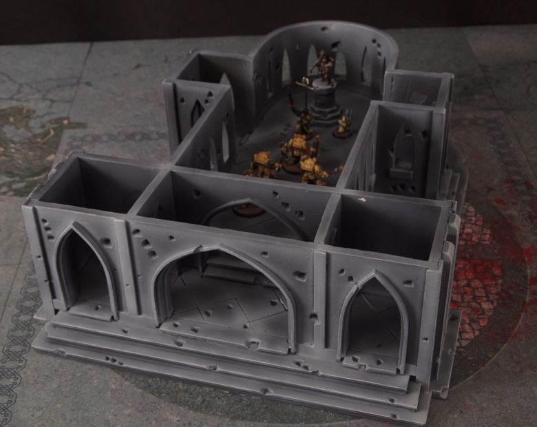 Warhammer 40k terrain cathedral deathwing chaos interior 8