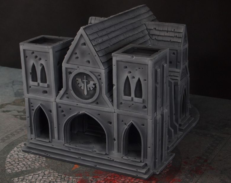 Warhammer 40k terrain cathedral front 1