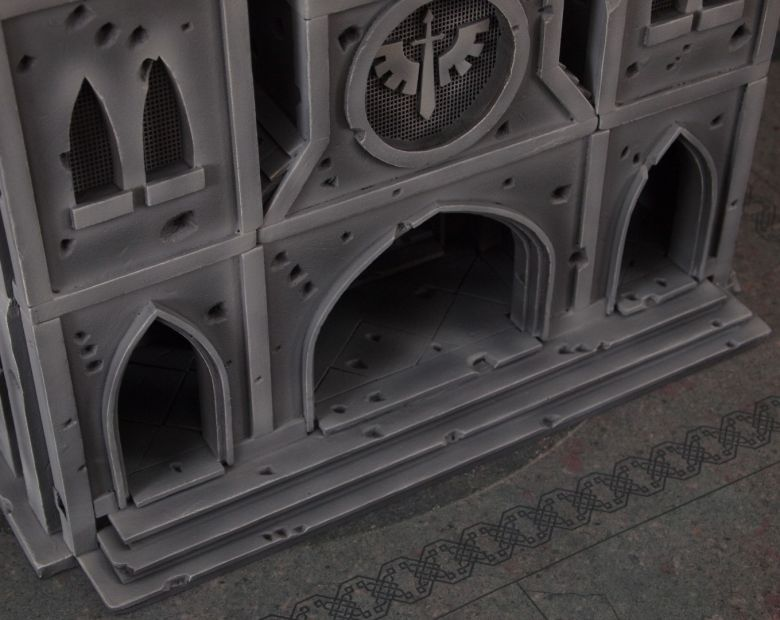 Warhammer 40k terrain cathedral front stairs