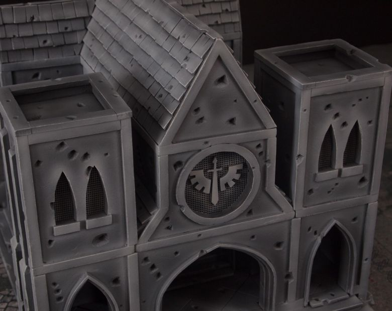Warhammer 40k terrain cathedral front top