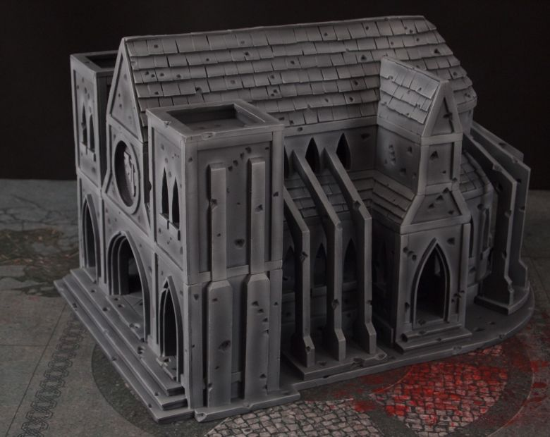 Warhammer 40k terrain cathedral side 1