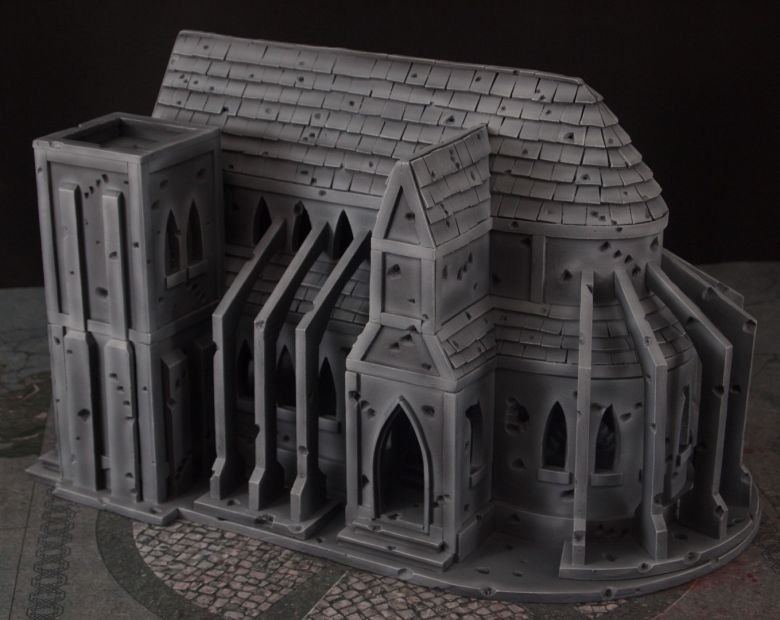 Warhammer 40k terrain cathedral side 2