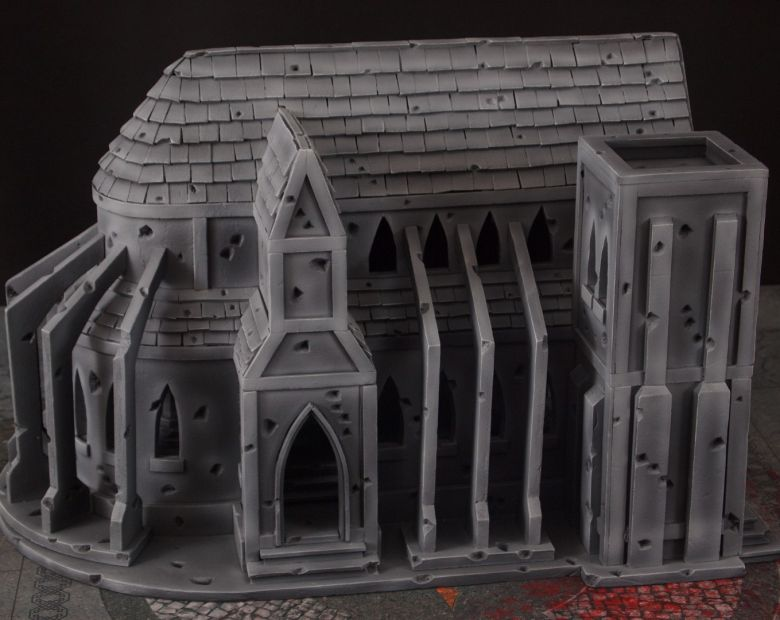 Warhammer 40k terrain cathedral side 3
