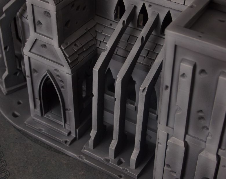 Warhammer 40k terrain cathedral side 4