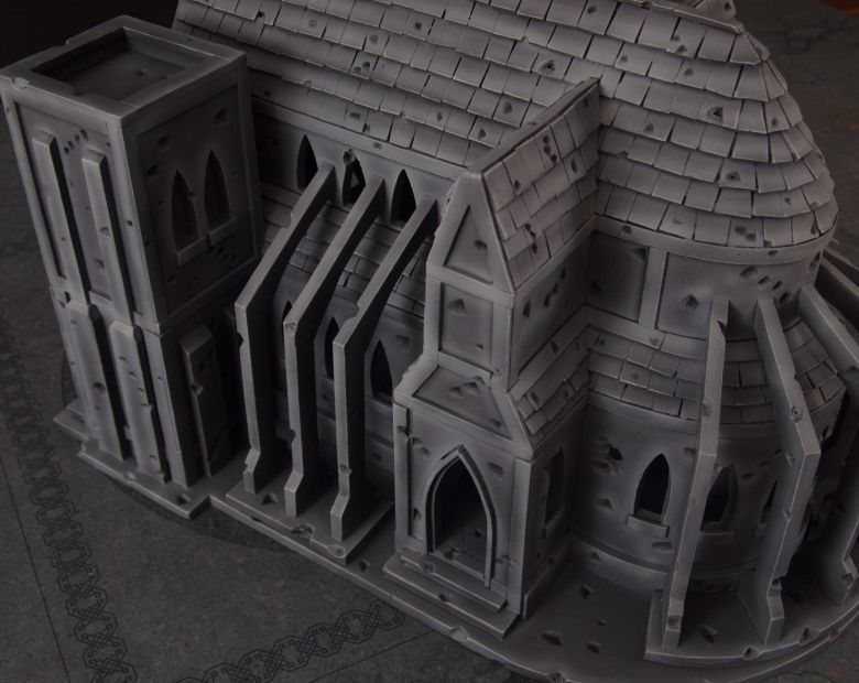 Warhammer 40k terrain cathedral side 5