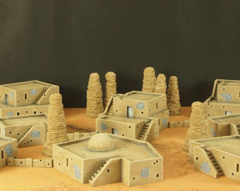 Warhammer 40k terrain desert city 1