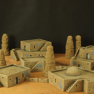 Desert city - WargameTerrainFactory - Miniatures War Game Terrain & Scenery
