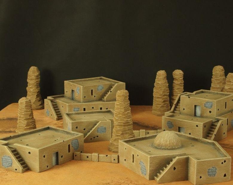 Warhammer 40k terrain desert city 2