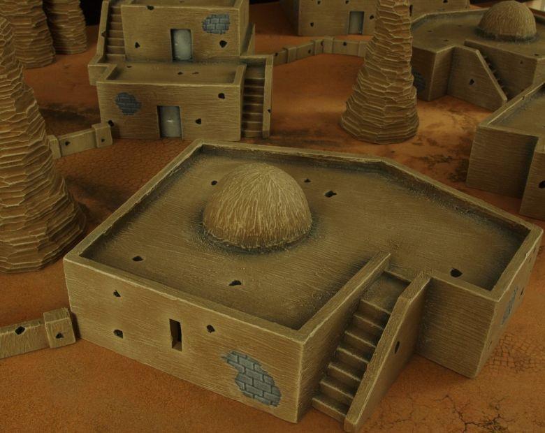 Warhammer 40k terrain desert city house 3