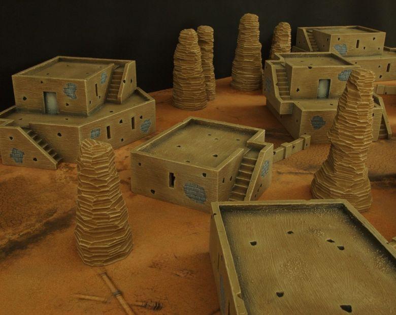 Warhammer 40k terrain desert city house 4