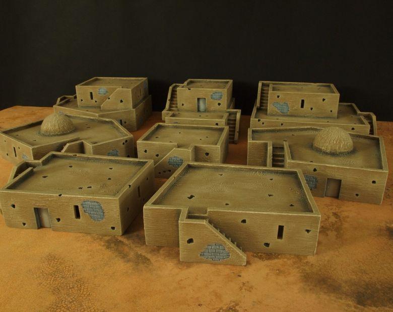Warhammer 40k terrain desert city houses 1