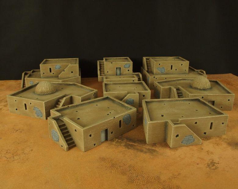 Warhammer 40k terrain desert city houses 2