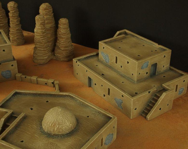 Warhammer 40k terrain desert city houses 3