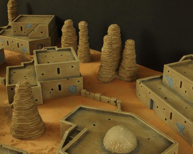 Warhammer 40k terrain desert city houses 4