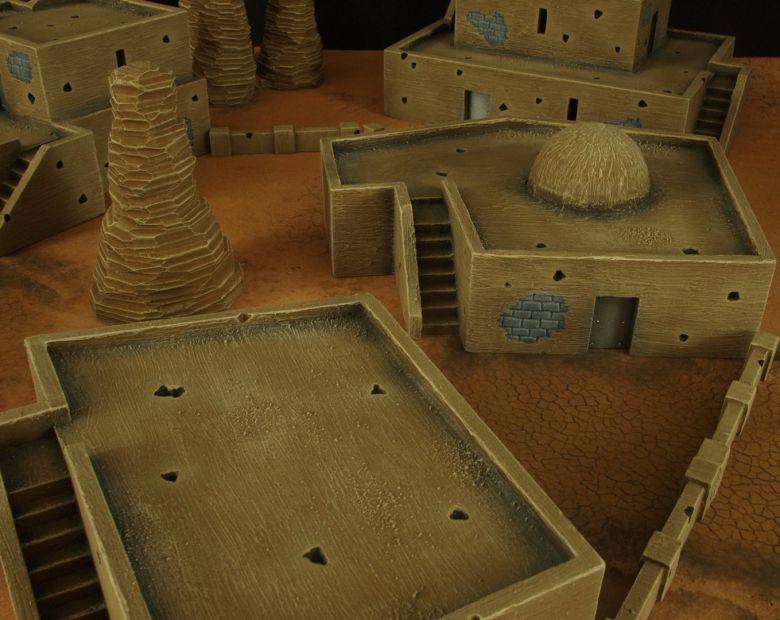 Warhammer 40k terrain desert city houses 5