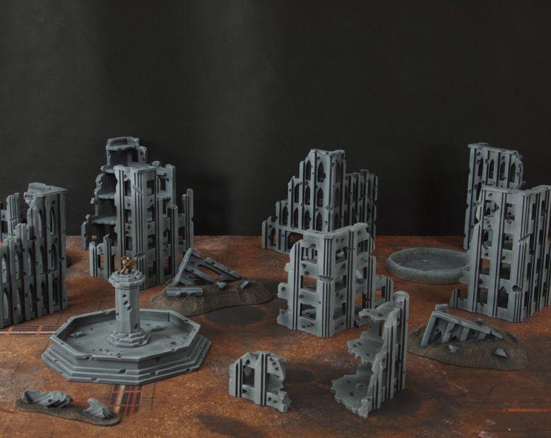 Warhammer 40k terrain fallout cityfight 1 8