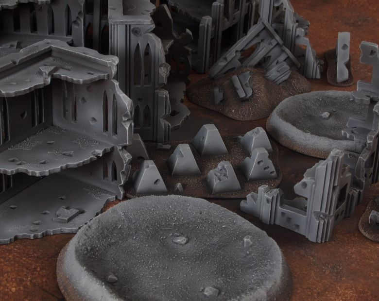 Warhammer 40k terrain fallout cityfight craters 1 1