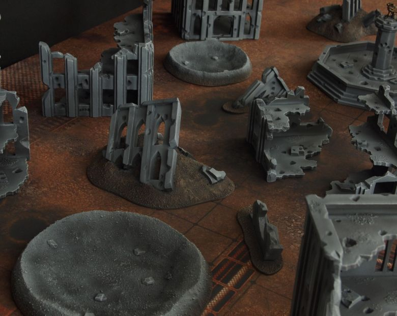 Warhammer 40k terrain fallout cityfight craters 1