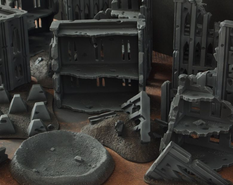 Warhammer 40k terrain fallout cityfight craters 2 1