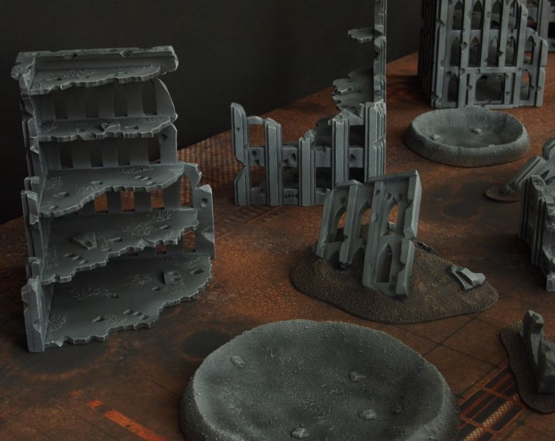 Warhammer 40k terrain fallout cityfight craters 2