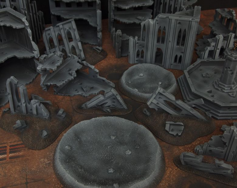 Warhammer 40k terrain fallout cityfight craters 3