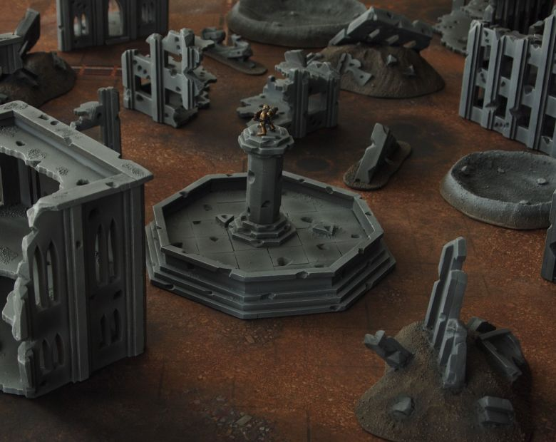Warhammer 40k terrain fallout cityfight fountain 1 1