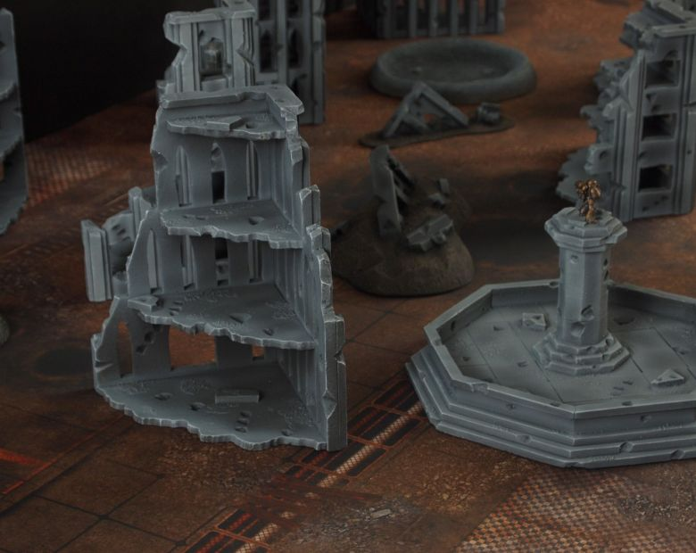 Warhammer 40k terrain fallout cityfight fountain 1 2