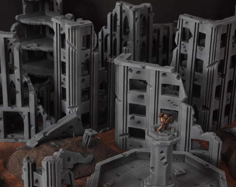 Warhammer 40k terrain fallout cityfight fountain 2 1