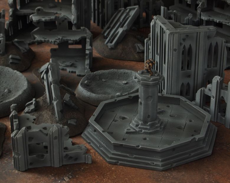 Warhammer 40k terrain fallout cityfight fountain 3 1