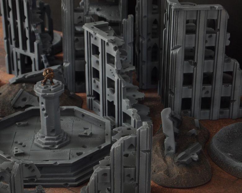 Warhammer 40k terrain fallout cityfight fountain 3 2