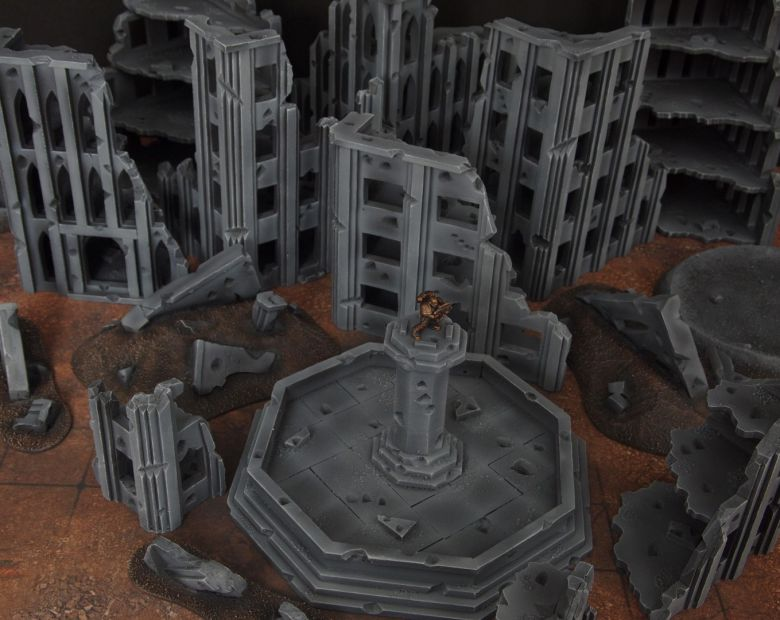 Warhammer 40k terrain fallout cityfight fountain 4 1