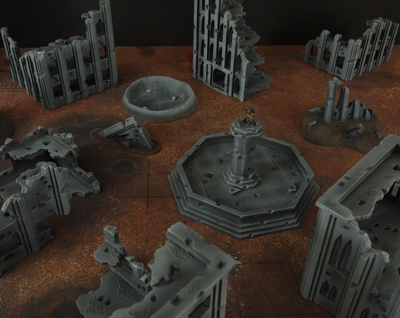 Warhammer 40k terrain fallout cityfight fountain