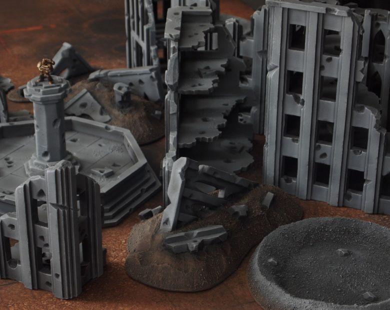 Warhammer 40k terrain fallout cityfight rubble 1 2