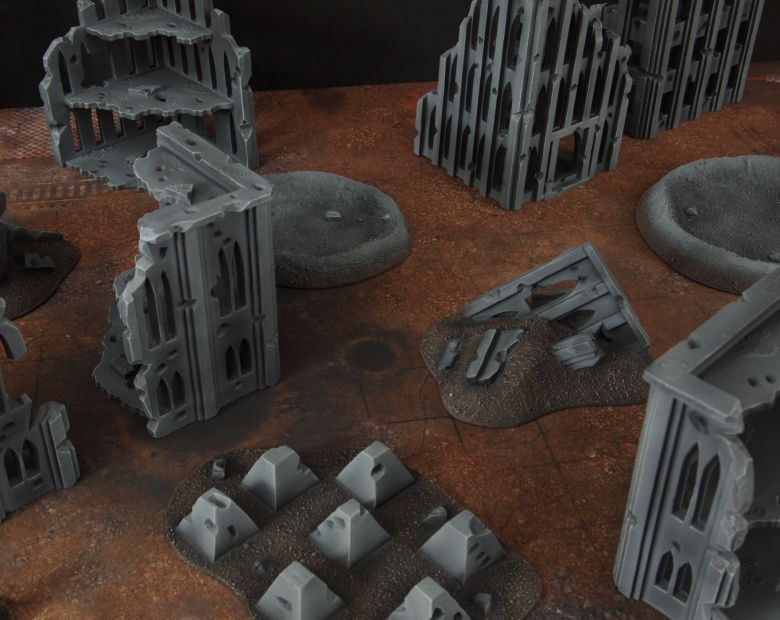 Warhammer 40k terrain fallout cityfight rubble 1 3