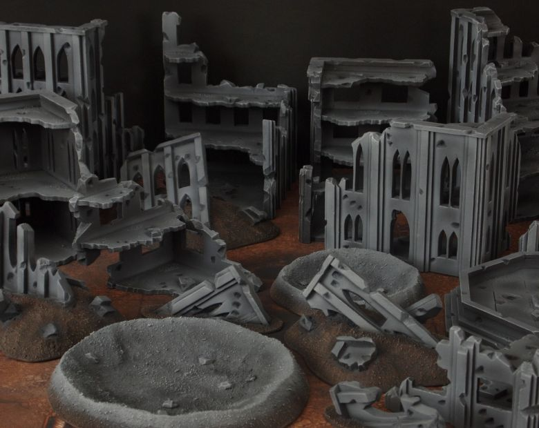 Warhammer 40k terrain fallout cityfight rubble 2 1