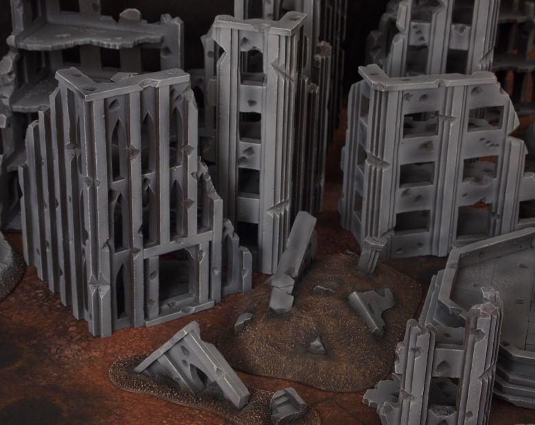 Warhammer 40k terrain fallout cityfight rubble 2 2