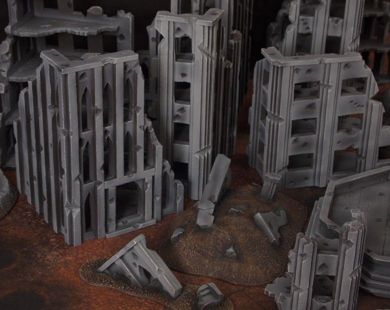 Warhammer 40k terrain fallout cityfight rubble 2 2