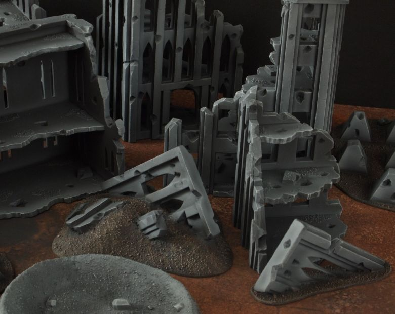 Warhammer 40k terrain fallout cityfight rubble 2 3