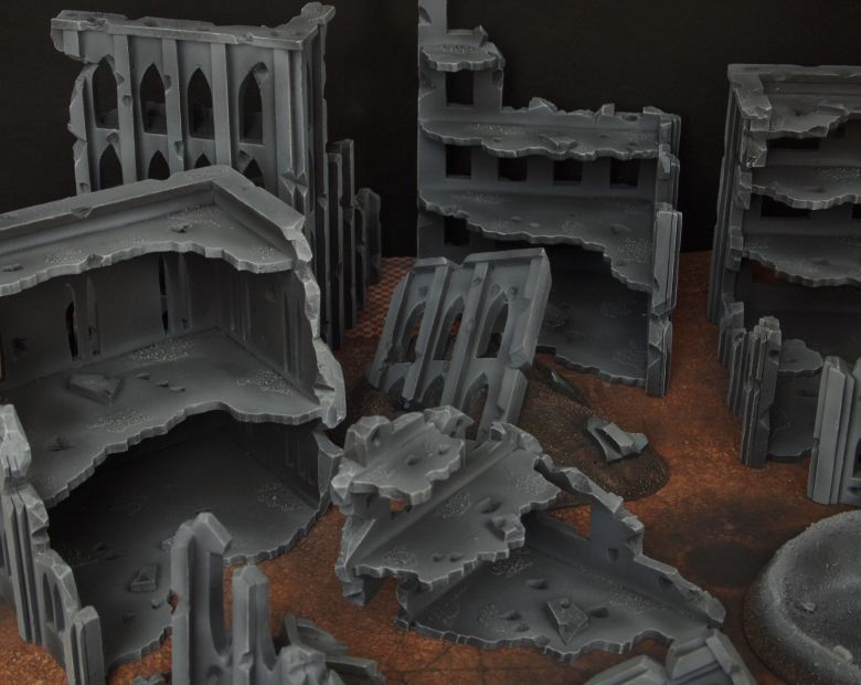 Warhammer 40k terrain fallout cityfight rubble 3 1