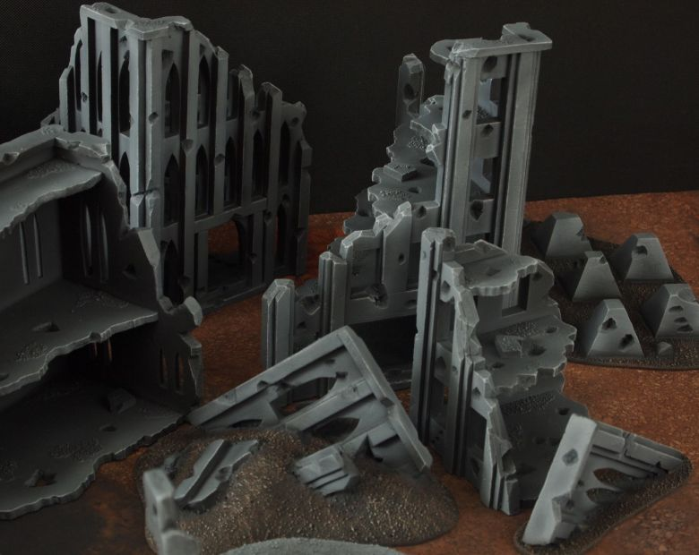 Warhammer 40k terrain fallout cityfight rubble 3 2