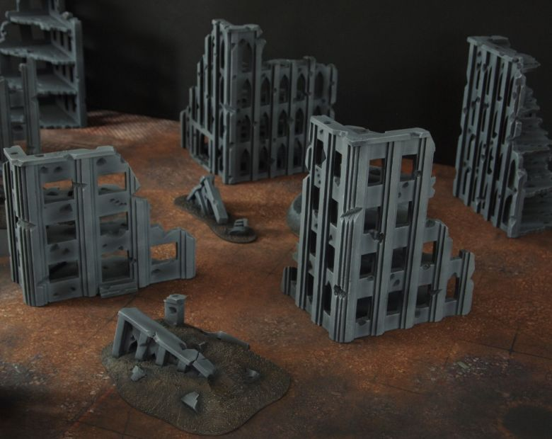 Warhammer 40k terrain fallout cityfight ruins 1 4