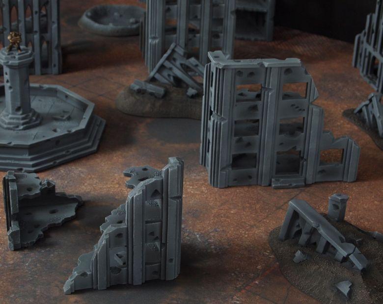 Warhammer 40k terrain fallout cityfight ruins 2 3