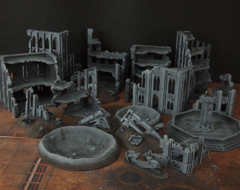 Warhammer 40k terrain fallout cityfight ruins 3 2