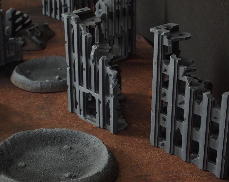 Warhammer 40k terrain fallout cityfight ruins 3 4