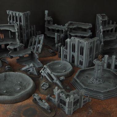 Fallout cityfight 1 - WargameTerrainFactory - Miniatures War Game Terrain & Scenery