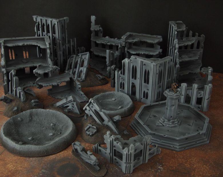 Warhammer 40k terrain fallout cityfight ruins 4 2